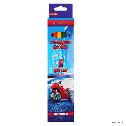 "Цветные карандаши ""Darvish"" (6 цветов; арт. DV-2737A-6)"