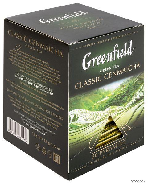 """Чай зеленый """"Greenfield. Classic Genmaicha"""" (20 пакетиков) — фото, картинка"""
