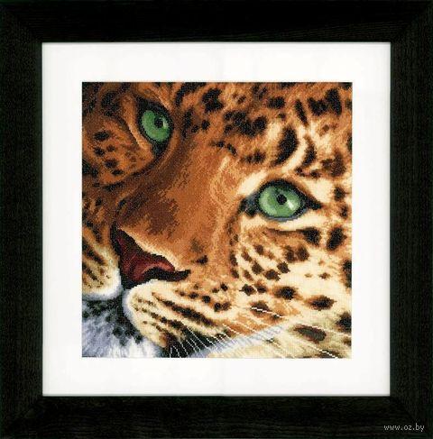 "Вышивка крестом ""Леопард"" (350х340 мм) — фото, картинка"