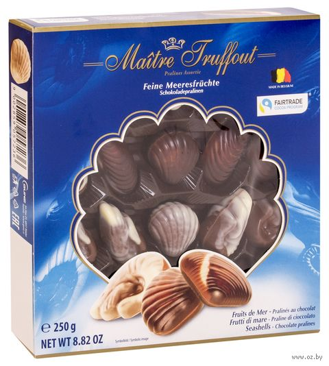 """Конфеты глазированные """"Ассорти. Pralines sea shells blue"""" (250 г) — фото, картинка"""