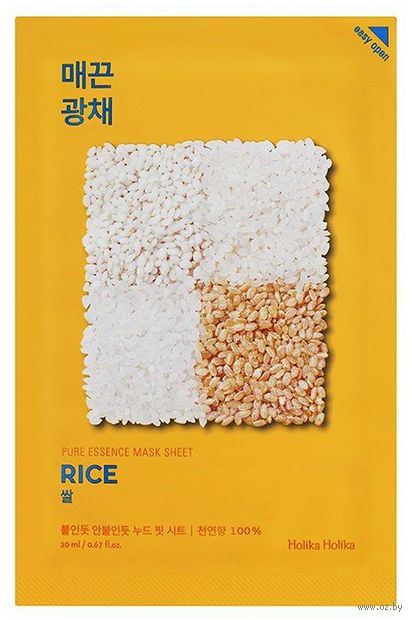 "Тканевая маска для лица ""Rice"" (20 мл) — фото, картинка"