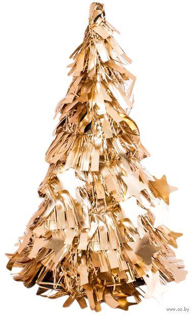 """Новогодняя ёлка """"Золотая мишура"""" (25 см; арт. H-101a) — фото, картинка"""