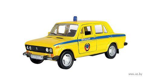 """Модель машины """"Lada 2106. Советская милиция"""" (масштаб: 1/36)"""