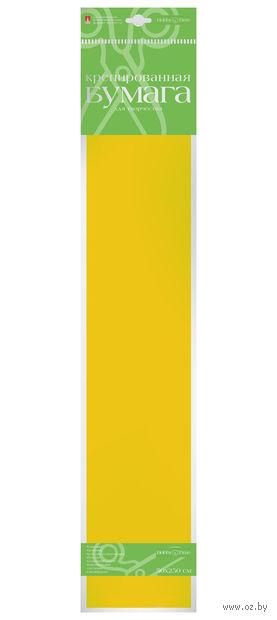 """Бумага креповая """"Флуоресцентная"""" (50х250 см; желтая) — фото, картинка"""