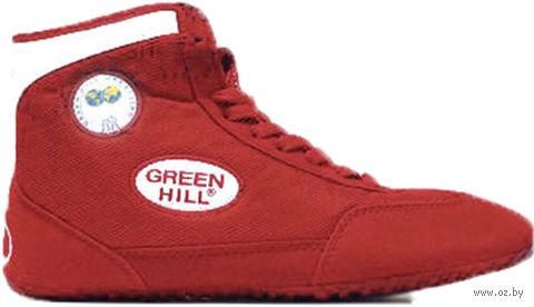 Обувь для борьбы GWB-3052/GWB-3055 (р. 42; красно-белая) — фото, картинка