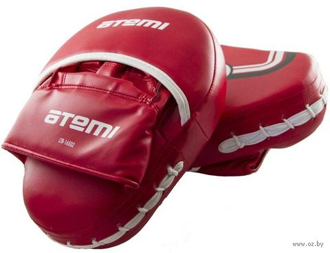 Лапы тренировочные вогнутые LTB-16502 (L; красные) — фото, картинка