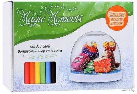 """Набор для лепки """"Создай волшебный шар со снегом. Совы"""" — фото, картинка"""