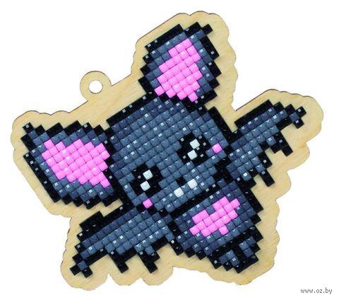 "Алмазная вышивка-мозаика ""Брелок. Летучая мышка"" (96х83 мм) — фото, картинка"