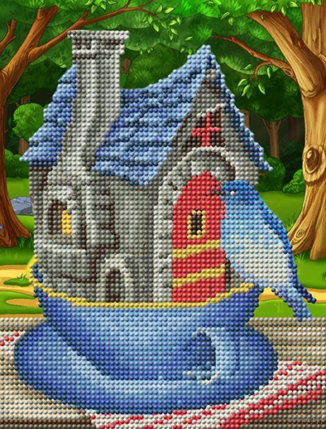 "Алмазная вышивка-мозаика ""Птичка у домика"" (250х190 мм) — фото, картинка"