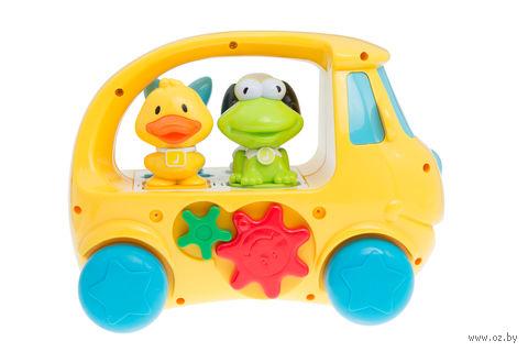 """Развивающая игрушка """"Автобус с животными"""" (со звуковыми и световыми эффектами)"""