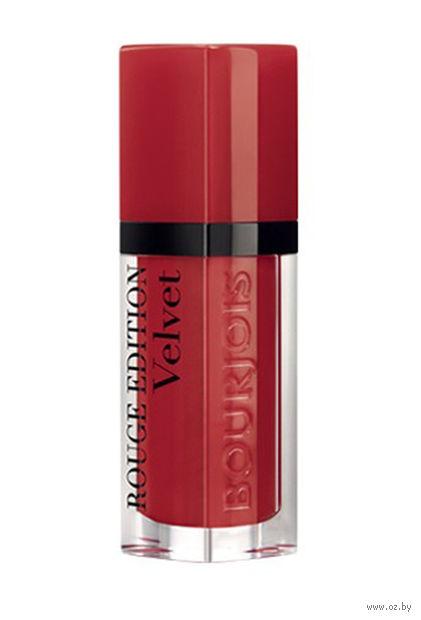 """Помада-флюид для губ """"Rouge edition velvet"""" (тон: 01, классический красный) — фото, картинка"""