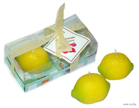 """Набор свечей декоративных """"Лимон"""" (2 шт.) — фото, картинка"""