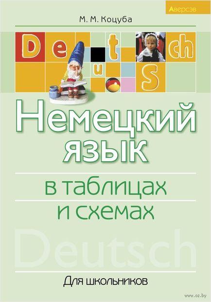 Немецкий язык в таблицах и схемах. Для школьников. М. Коцуба