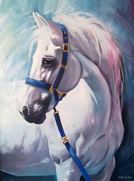 """Алмазная вышивка-мозаика """"Грезы белого коня"""" (300x400 мм) — фото, картинка"""