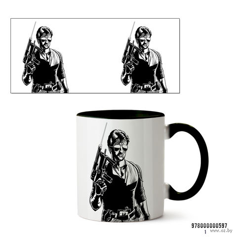 """Кружка """"Stallone Cobra"""" (черная) — фото, картинка"""