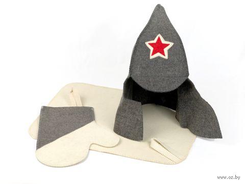 """Набор для сауны """"Мужской"""" (колпак, рукавица, коврик)"""