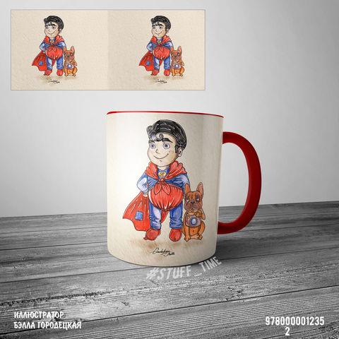 "Кружка ""Супермэн"" (красная; арт. 1235) — фото, картинка"