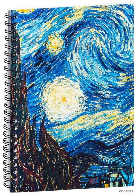 "Блокнот в клетку ""Ван Гог. Звездная ночь"" (A5; арт. 0387) — фото, картинка"