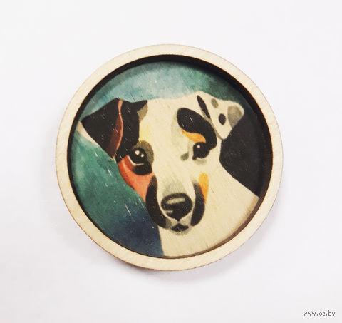 """Значок деревянный """"Джек Рассел"""" — фото, картинка"""