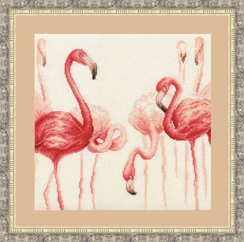 "Вышивка крестом ""Фламинго"" №2"
