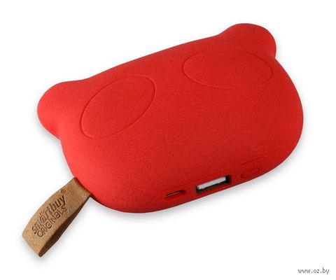 Внешний аккумулятор (Power bank) SmartBuy PANDA RULES, 5200 мАч, красный (SBPB-8020)
