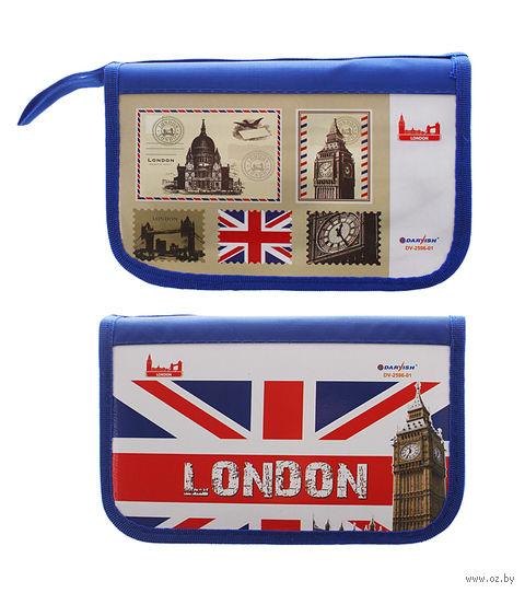 """Пенал """"London"""" (2 отделения; цвет: ассорти)"""