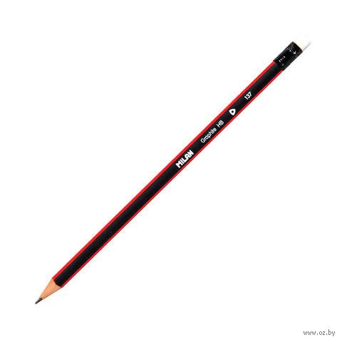 Карандаш чернографитный (HB, ластик)