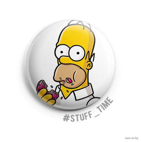 "Значок маленький ""Симпсоны. Гомер"" (арт. 002) — фото, картинка"