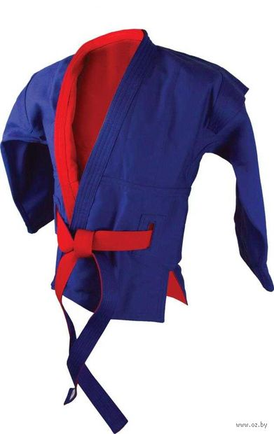 Куртка для самбо двухсторонняя AX55 (р. 56/190; красно-синяя) — фото, картинка