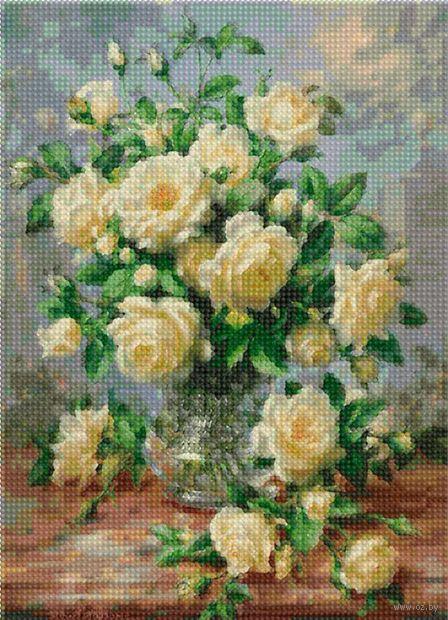 "Алмазная вышивка-мозаика ""Чайная роза"" (360х260 мм) — фото, картинка"