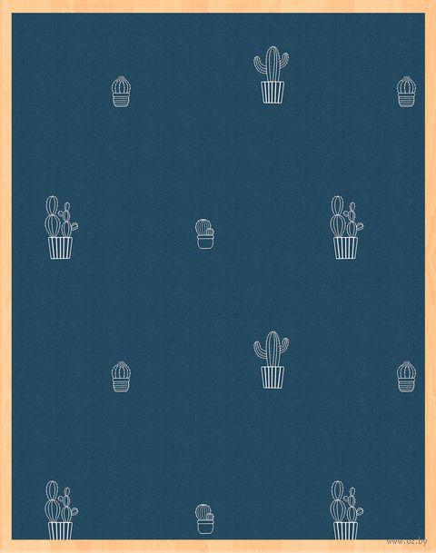 """Простыня хлопковая на резинке """"Кактусы"""" (200х160х25 см) — фото, картинка"""