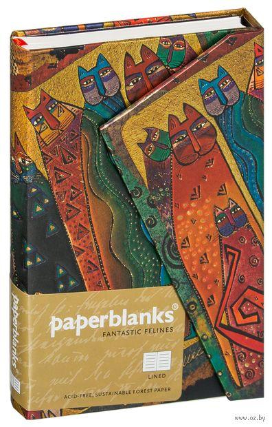 """Записная книжка Paperblanks """"Кошки Санта-Фе"""" в линейку (формат: 100*140 мм, мини)"""