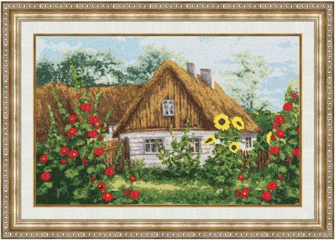 """Вышивка крестом """"Домик в деревне"""" (266х417 мм) — фото, картинка"""