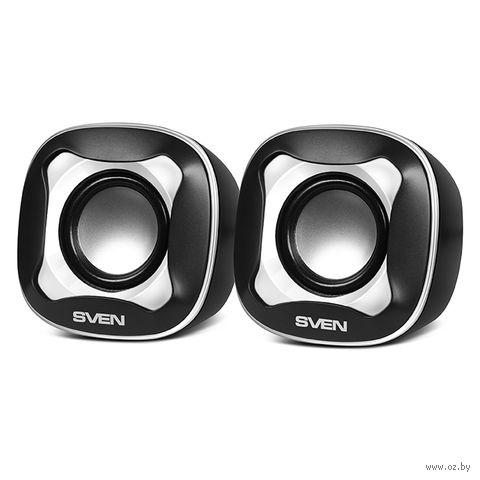 Акустическая система 2.0 Sven 170 (черно-белая) — фото, картинка