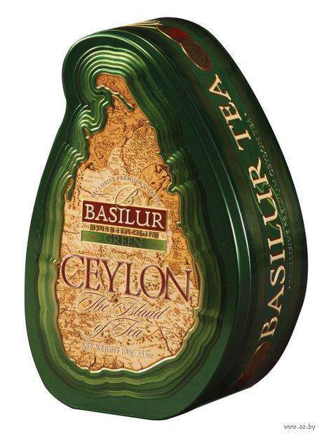"""Чай зеленый листовой """"Basilur. Green"""" (100 г; в банке) — фото, картинка"""
