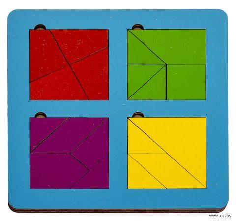 """Рамка-вкладыш """"Сложи квадрат"""" (4 квадрата; уровень 3) — фото, картинка"""