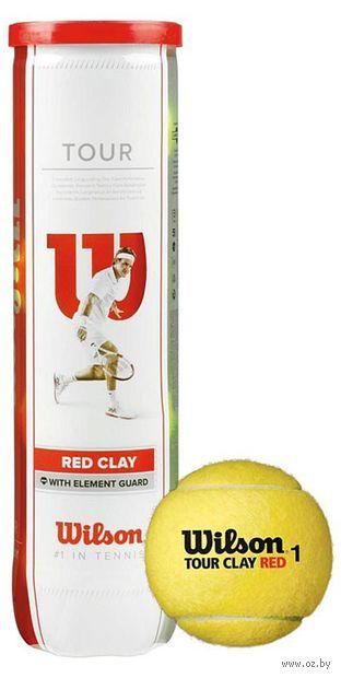 "Мячи для большого тенниса ""Tour Clay Red"" (4 шт.; арт. WRT110800) — фото, картинка"