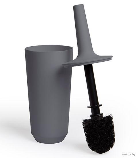 """Ершик для туалета на подставке """"Corsa"""" (темно-серый) — фото, картинка"""