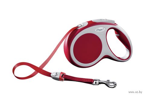 """Поводок-рулетка для собак """"Vario"""" (красный, размер S, до 15 кг/5 м, арт. 12063)"""