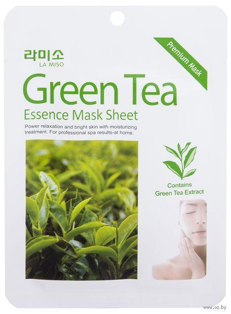 """Тканевая маска для лица """"С экстрактом Зелёного чая"""" (21 г) — фото, картинка"""