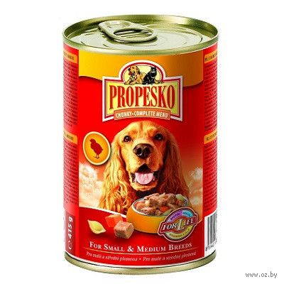 Консервы для собак (1240г; говядина, дичь и курица) — фото, картинка