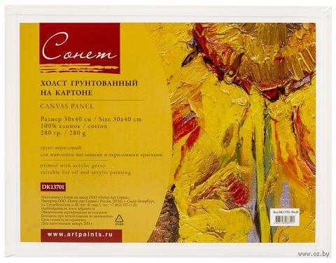 "Холст на картоне ""Сонет"" (300х400 мм; арт. DK13701-30х40) — фото, картинка"
