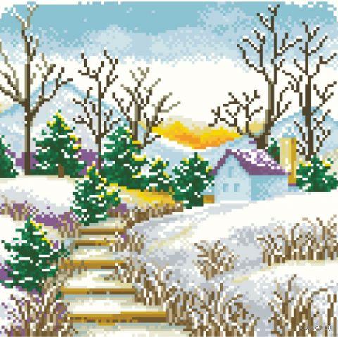 """Алмазная вышивка-мозаика """"Ранняя зима"""""""
