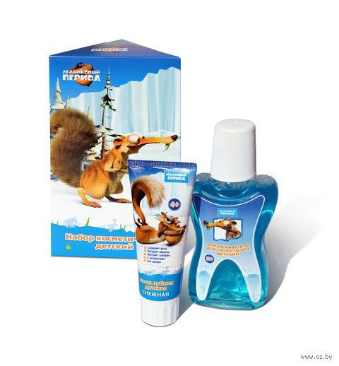 Подарочный набор для ухода за полостью рта (зубная паста, ополаскиватель)