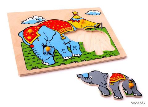 """Рамка-вкладыш """"Слоны"""" — фото, картинка"""