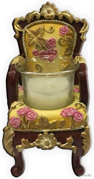 "Подсвечник ""Желтый трон"" (6,5х6х10 см; арт. 44565) — фото, картинка"