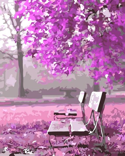 """Картина по номерам """"Лиловый сад"""" (400х500 мм) — фото, картинка"""