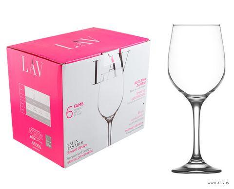 "Бокал для вина стеклянный ""Fame"" (6 шт.; 395 мл) — фото, картинка"