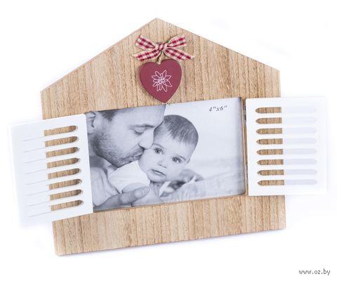 Рамка деревянная (13х9 см; арт. 25418063) — фото, картинка