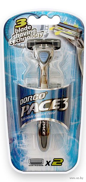 """Станок для бритья """"Pace 3"""" (+2 кассеты) — фото, картинка"""